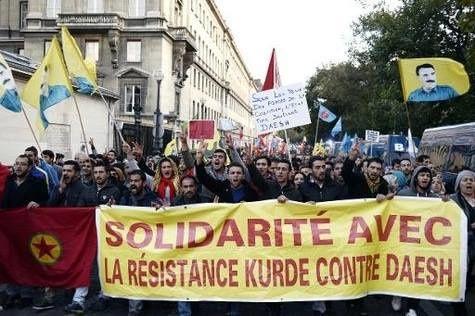 Solidarité avec la résistance kurde de Kobané qui lutte contre l'Etat islamique