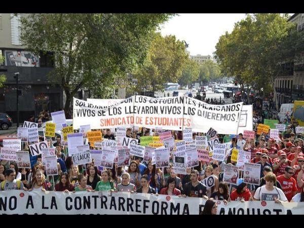 Espagne : des manifestaions dans les principales villes à l'appel de l'Union des Etudiants