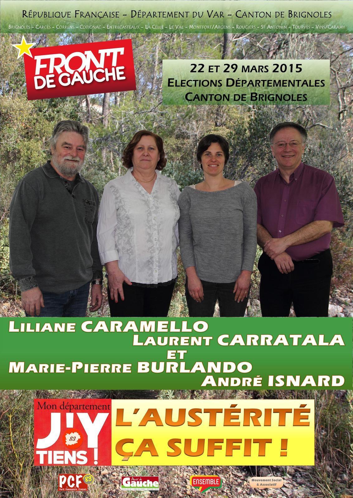 Le 22 mars je vote Front de Gauche sur le canton de Brignoles