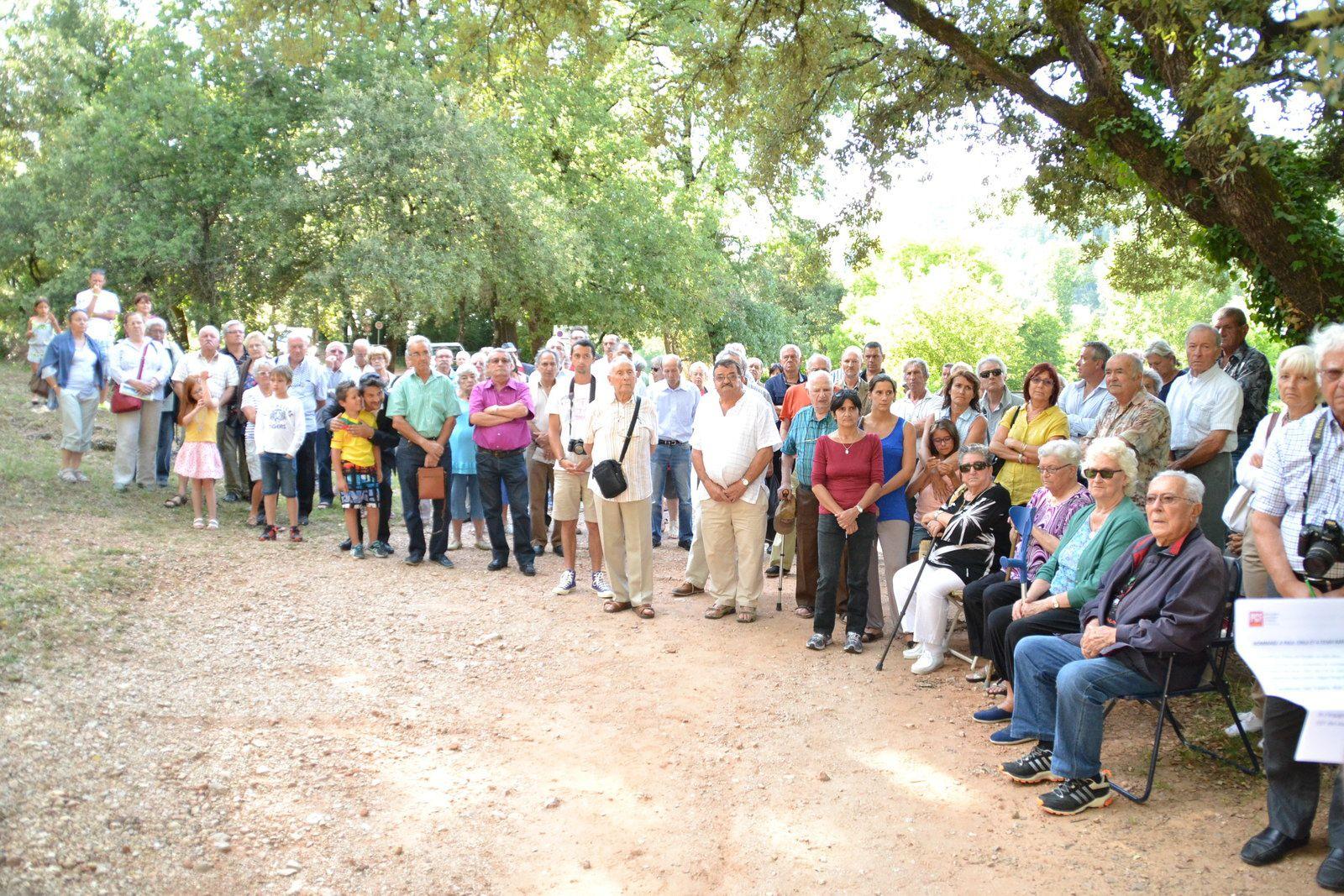 Commémoration à Vins sur Carami  le mercredi 29 juillet à 18h