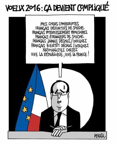 Voeux 2016 (4) de François Hollande (humour)