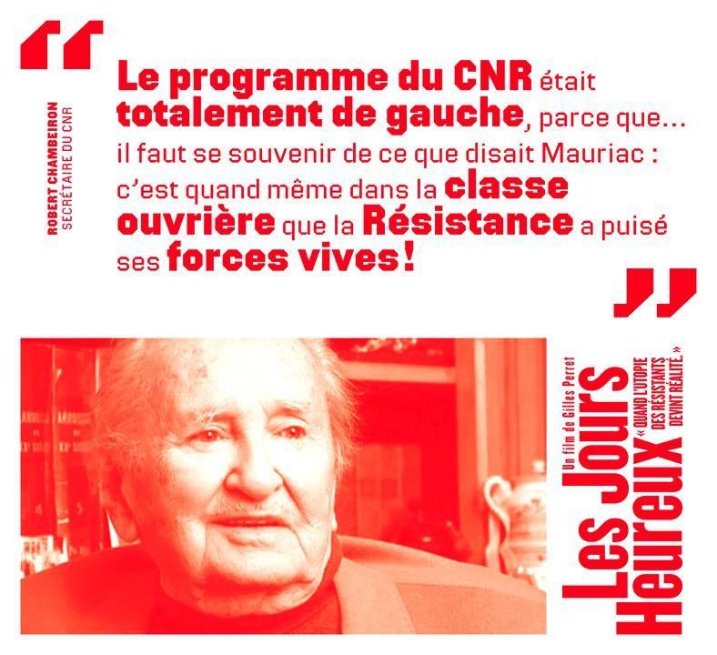 Programme du CNR &quot&#x3B;Les jours heureux&quot&#x3B; (vidéo