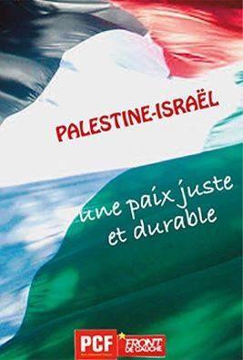 Conférence pour la Paix : La France doit reconnaître l'Etat Palestinien immédiatement (PCF)