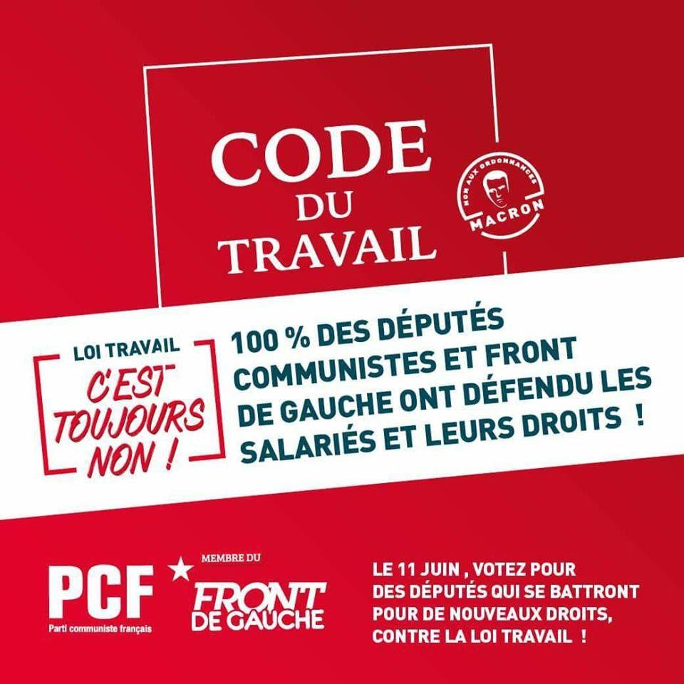 Réforme du code du travail : Macron doit dire leurs intentions réelles avant les élections législatives (PCF)