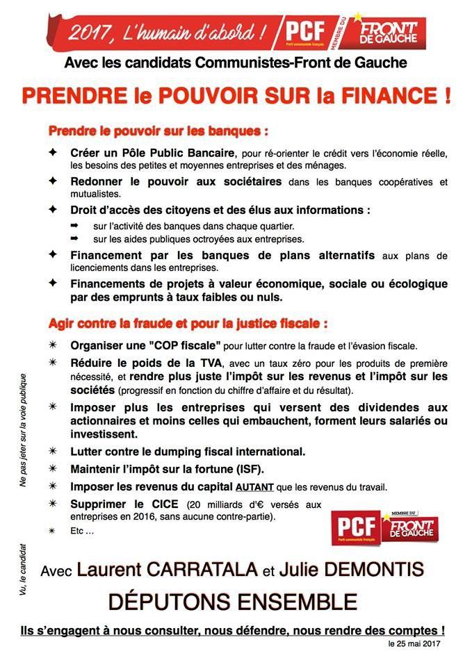 Elections législatives : 2ème tract de campagne des candidats PCF - Front de Gauche 6ème VAR