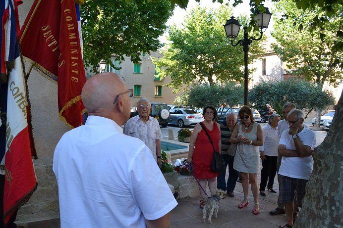 Brignoles : Commémoration aux martyrs Valois de la Résistance le 16 juin 2017 (PCF)