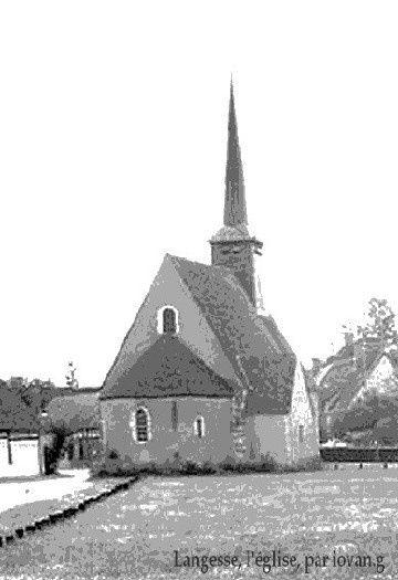 Langesse, L'église traitée à l'ancienne