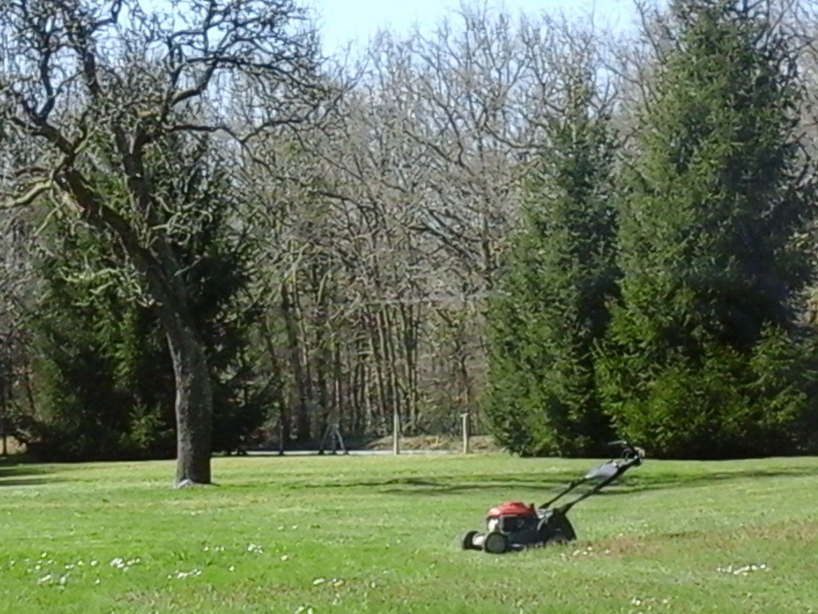 Aujourd'hui comme hier j'ai tondu l'herbe pressée de pousser. Mais elle ne s'en souvient pas. Vivement demain, je lui rappellerai l'oubli. (iovan.g)