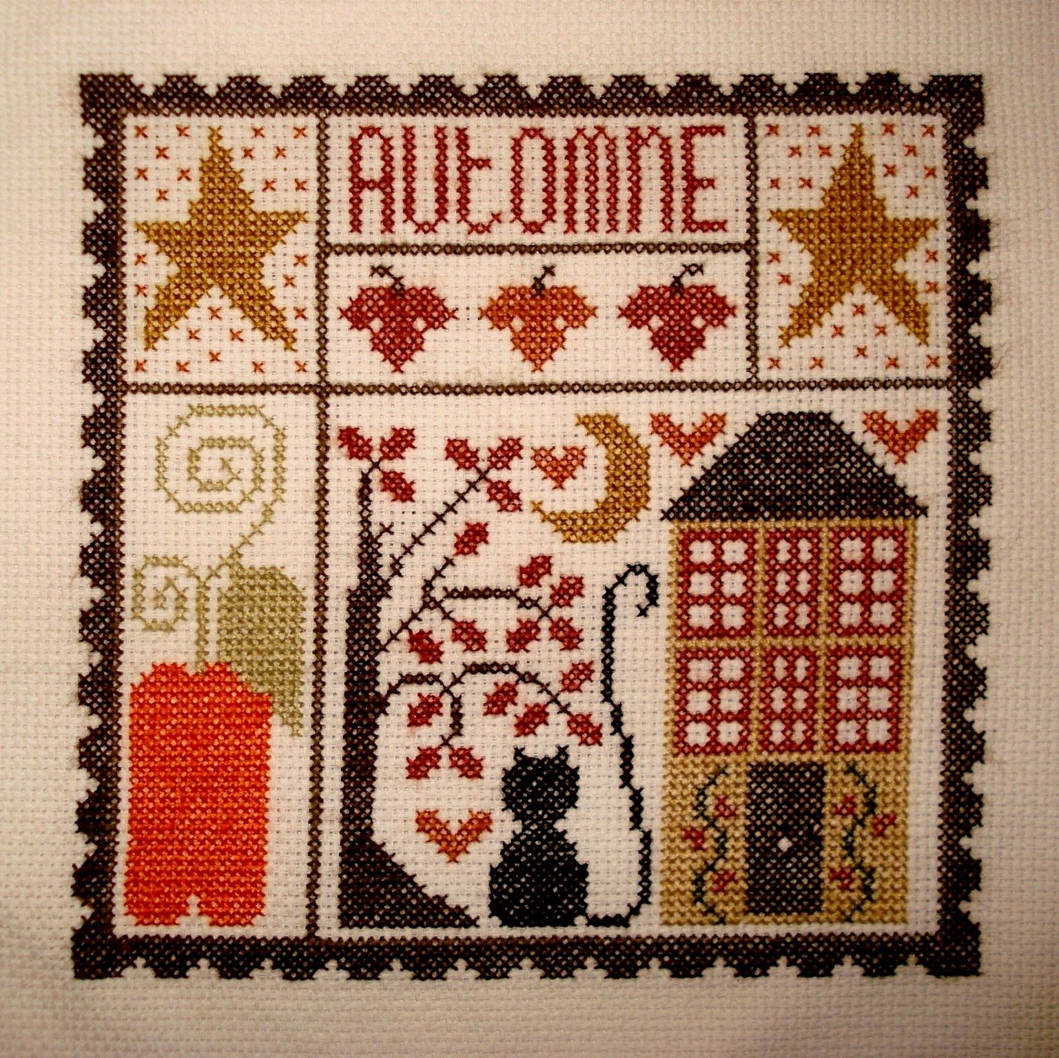 Broderie d'automne.