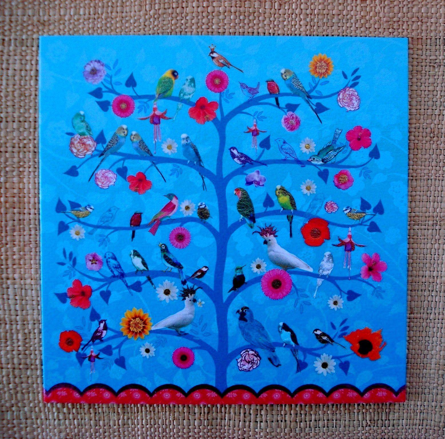 """La carte """"l'arbre aux oiseaux"""""""