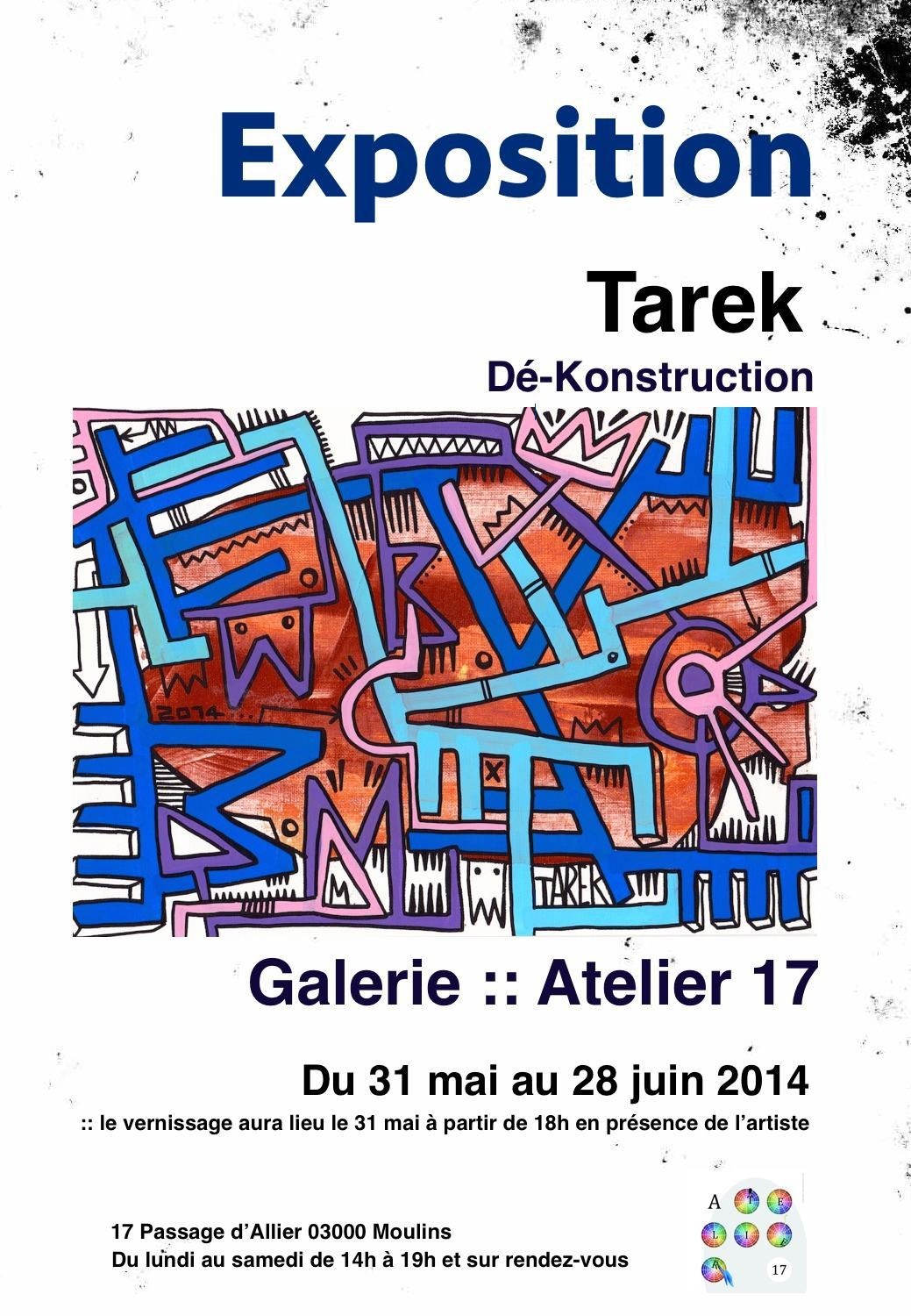 "Exposition ""Dé-Konstruction"" de Tarek"
