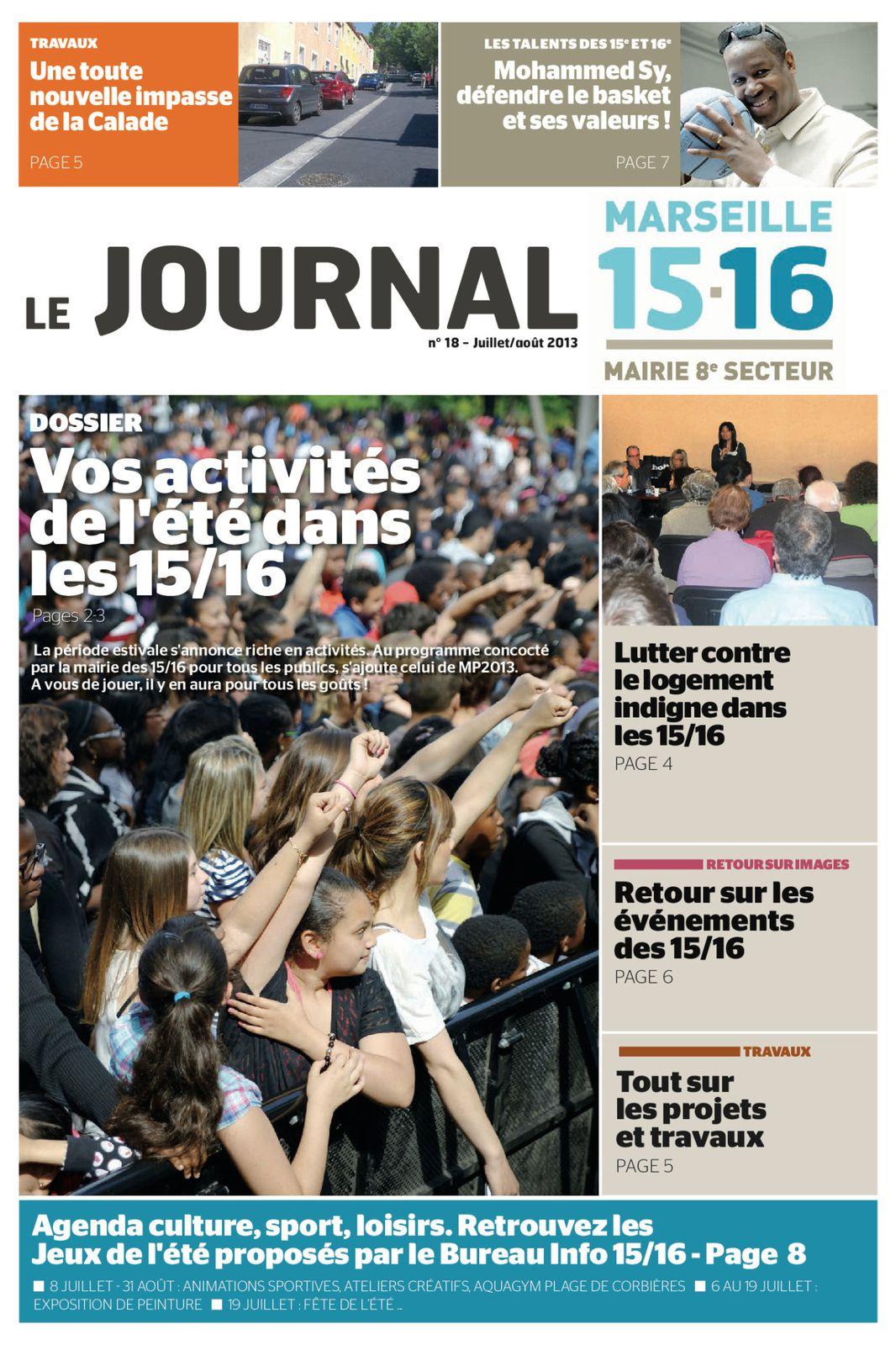 Le Journal du 15-16 Juillet Aout 2013