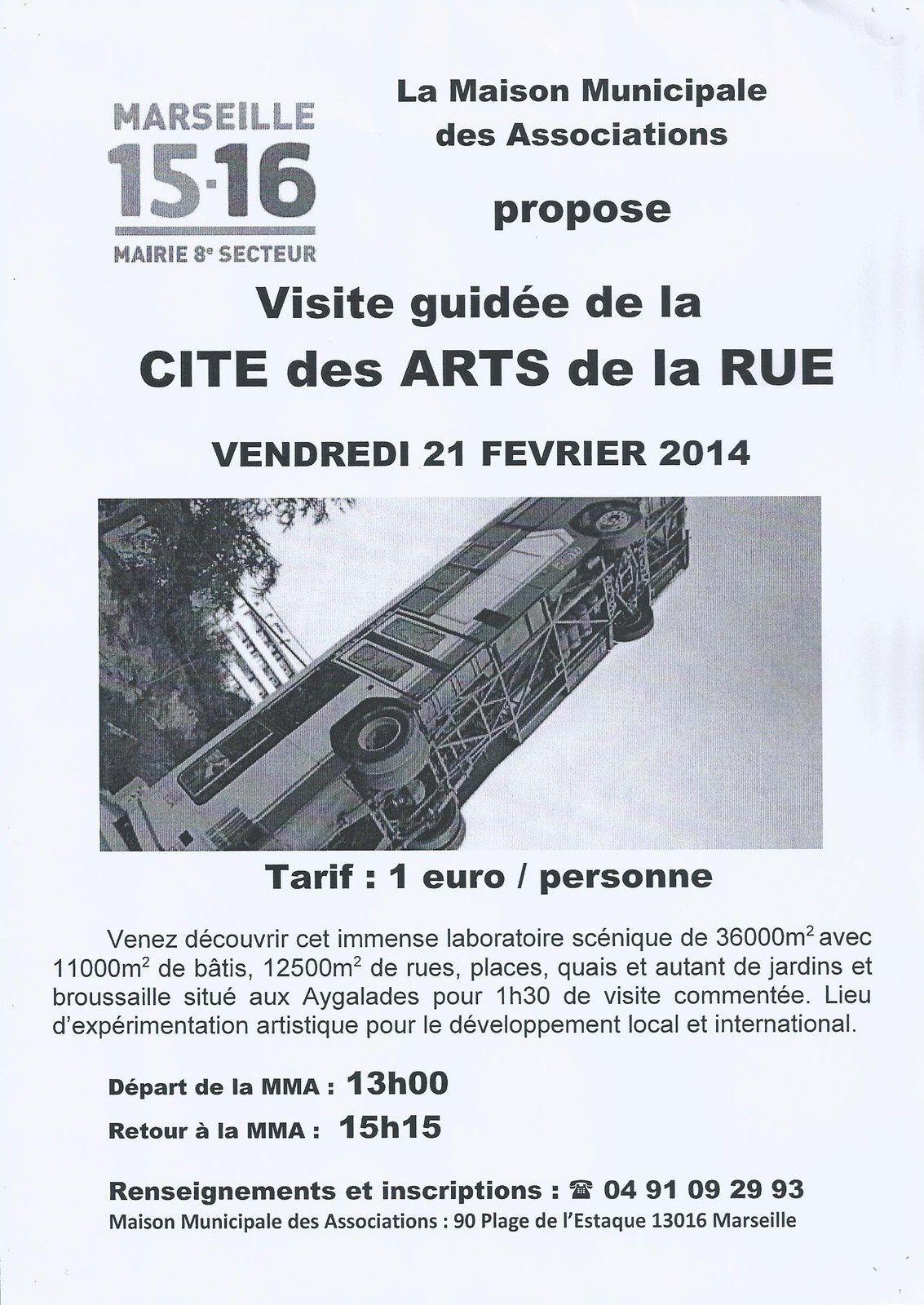 Visite guidée de la Cité Arts de la Rue