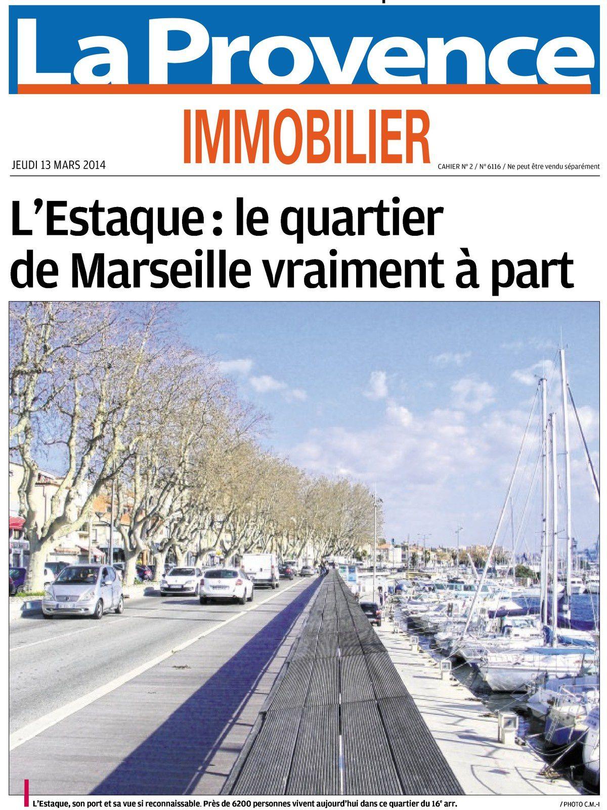 La Provence Immobilier 13 mars 2014
