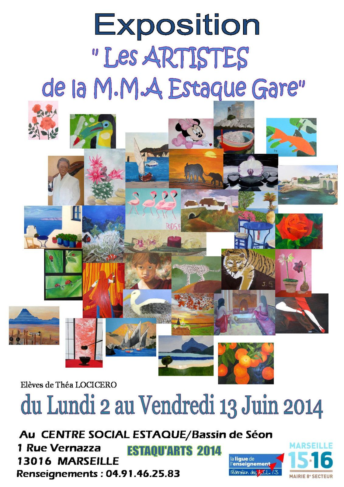 "Exposition ""Les artistes de la MMA Estaque Gare"""