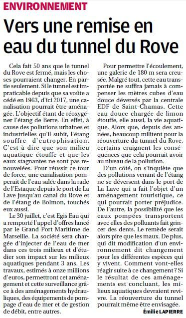 La Provence du 25 Août 2014