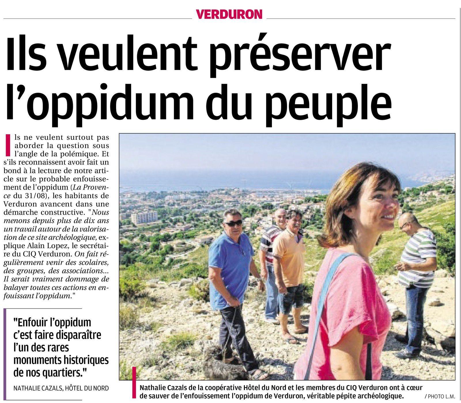 La Provence du 12 septembre 2014