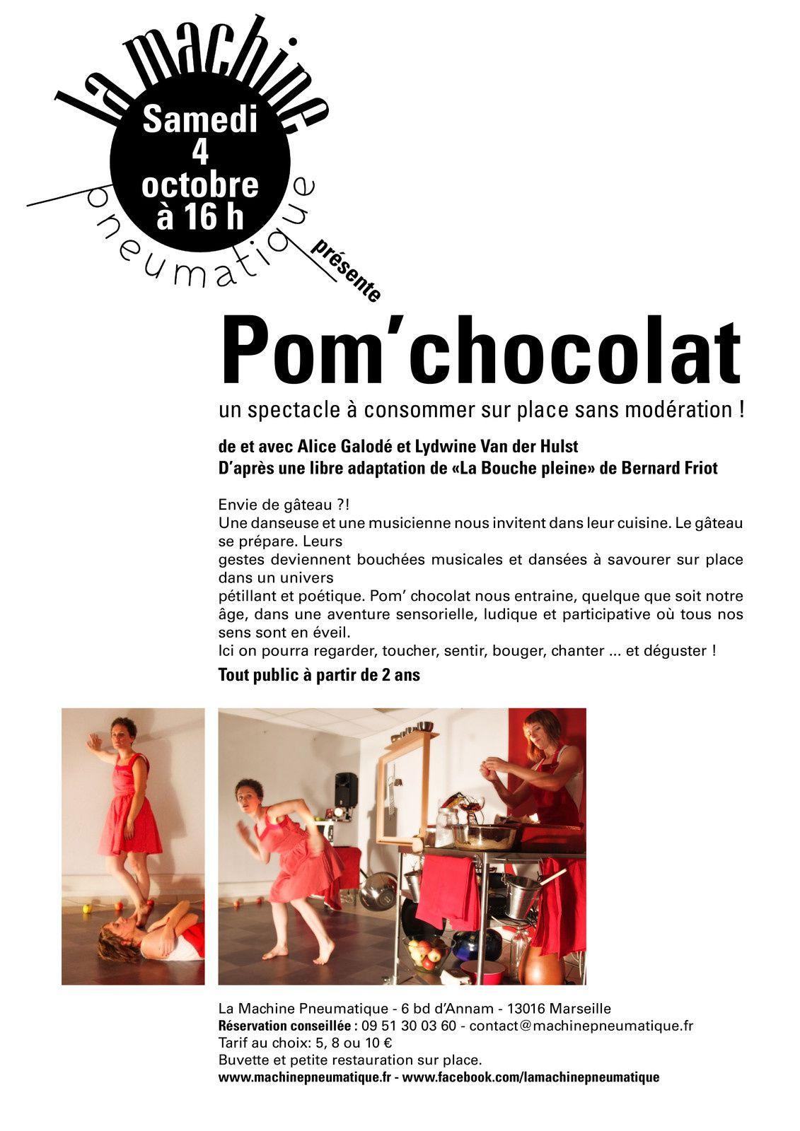 """La machine pneumatique présente """"Pom' chocolat"""""""