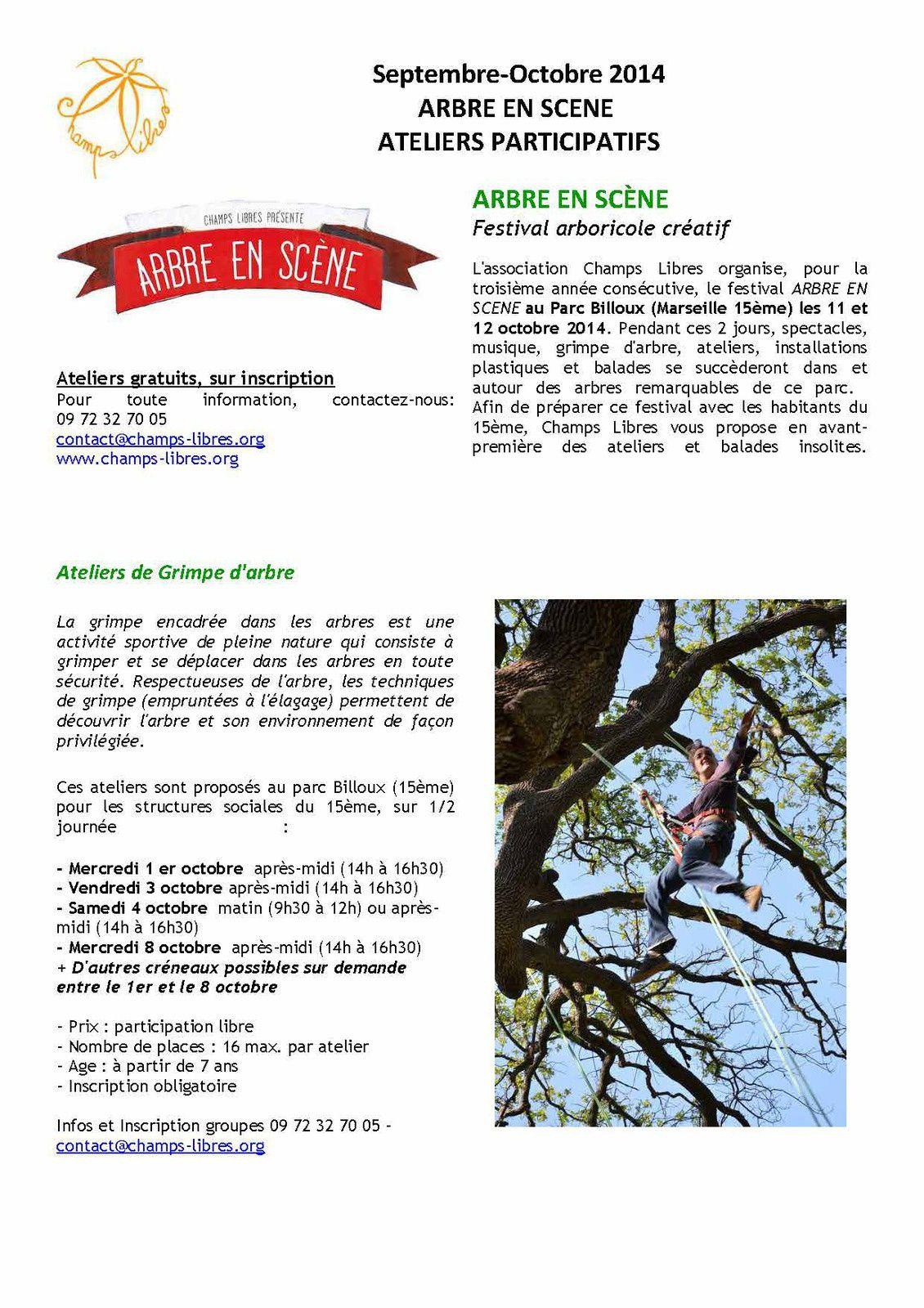 3ème édition d'Arbre en Scène - Parc François Billoux 15eme