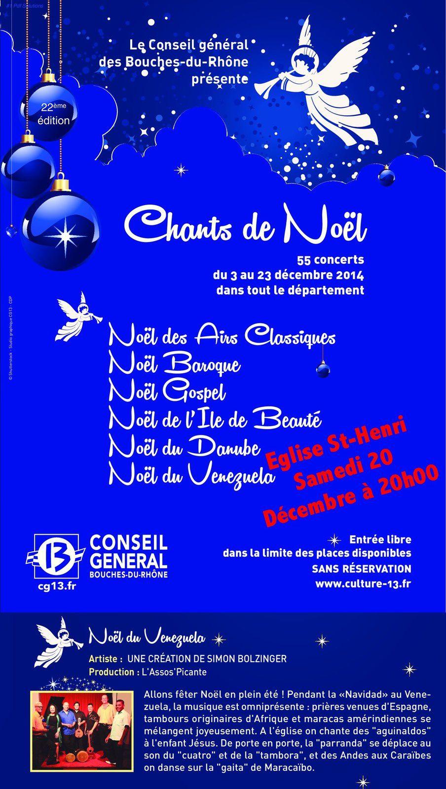 Les églises du secteur accueillent les Chants de Noël
