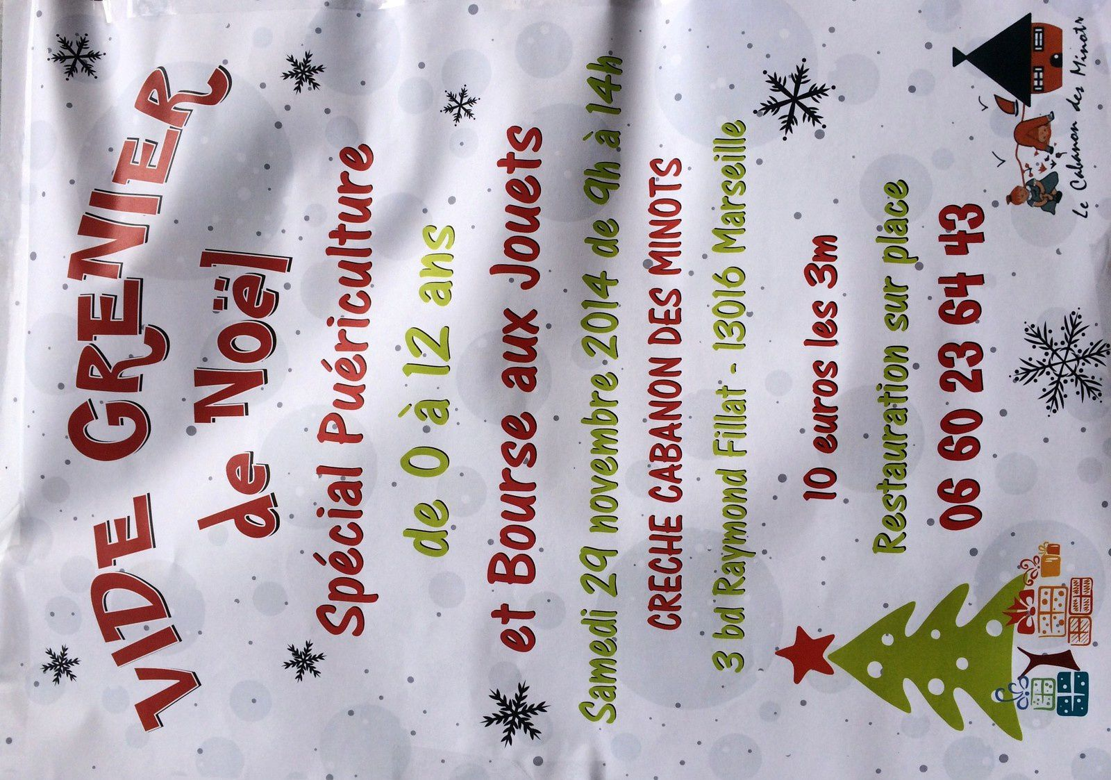 Vide Grenier de Noël au Cabanon des Minots