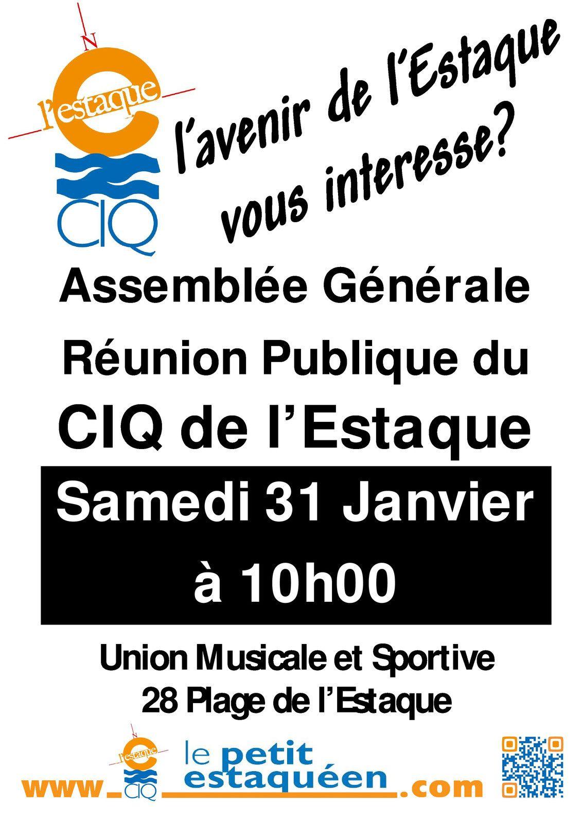 CIQ de l'Estaque - Assemblée Générale et réunion publique