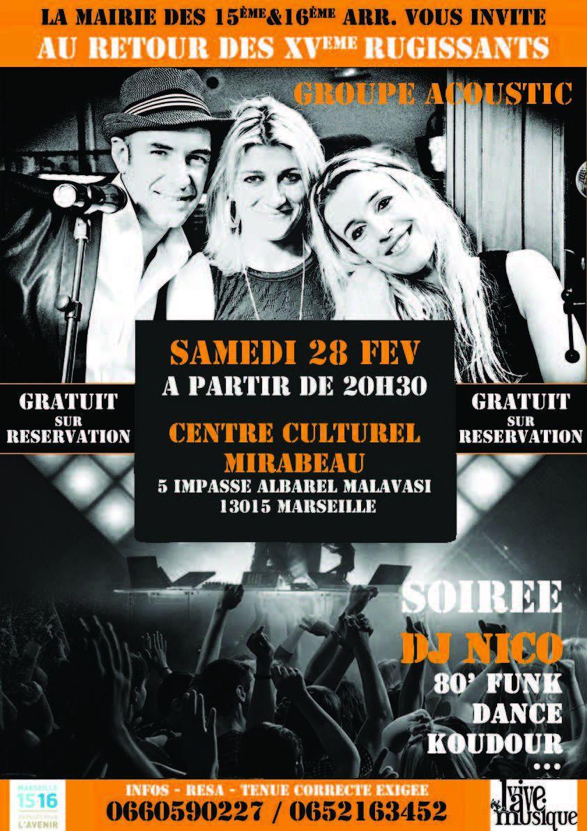 Concert - les XVème rugissants au Centre culturel Mirabeau