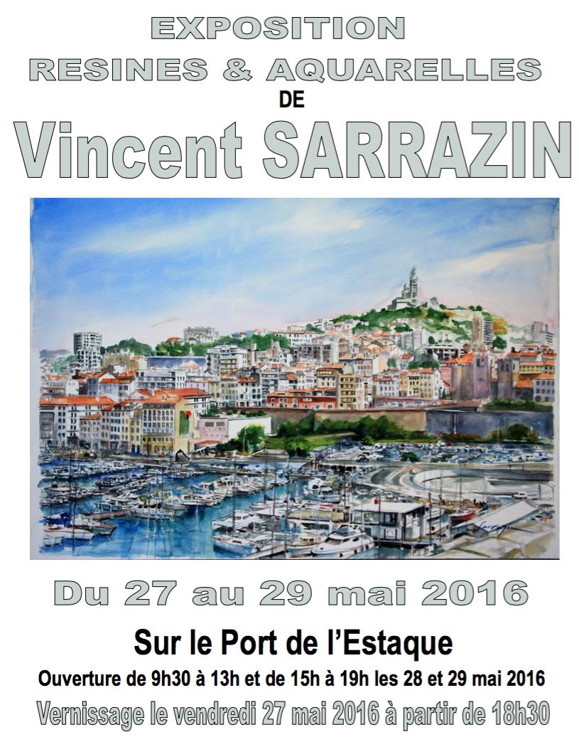 Vincent SARRAZIN expose ses toiles