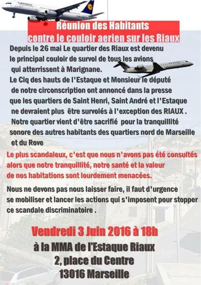 Nouvelle trajectoire aérienne - Réunion d'habitants des Riaux
