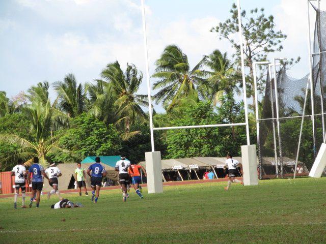 Des pro du rugby à wallis pour les mini-jeux : SAMOA FIDJI ( finale)