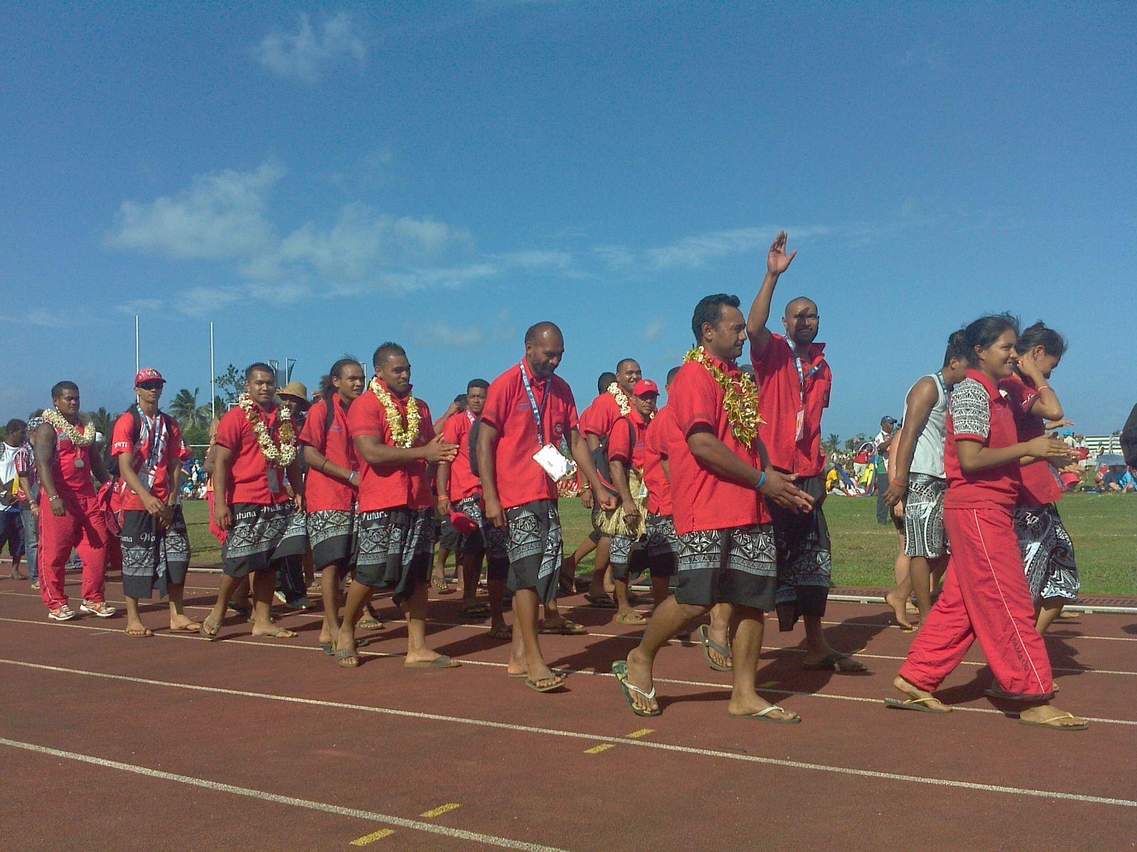 la cérémonie de cloture des IXème mini-jeux du Pacifique le jeudi 12 septembre 2013 à Mata-Utu (wallis et futuna)