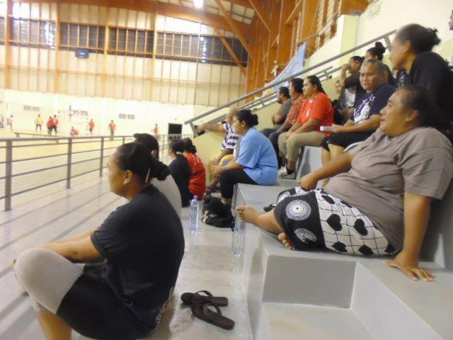 La salle Kafika où se déroule les compétitions de Volley-ball