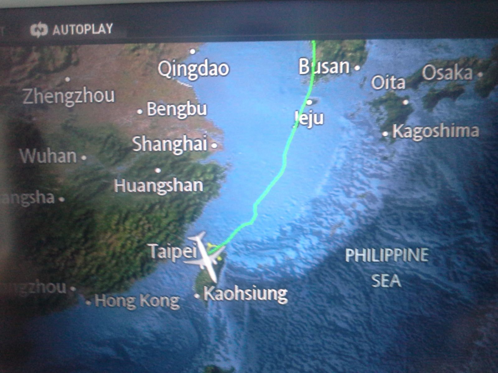 arrivee en avion depuis seoul