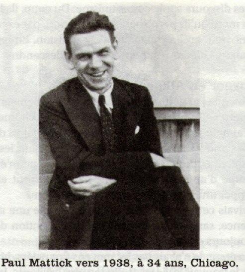 Paul Mattick, Chicago, 1938.
