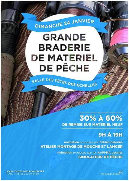 GRANDE BRADERIE DE MATERIEL DE PÊCHE (73) . . .