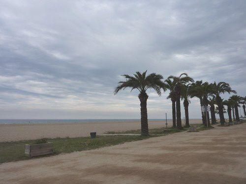 C'est d'abord la plage de Santa Susanna que nous allons voir :  déserte !