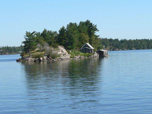 Croisière parmi les mille îles, sur le Saint Laurent.