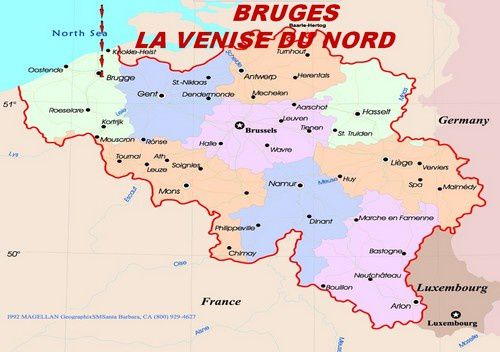 Si vous vouler y aller, c'est  au Nord  Ouest de la belgique !