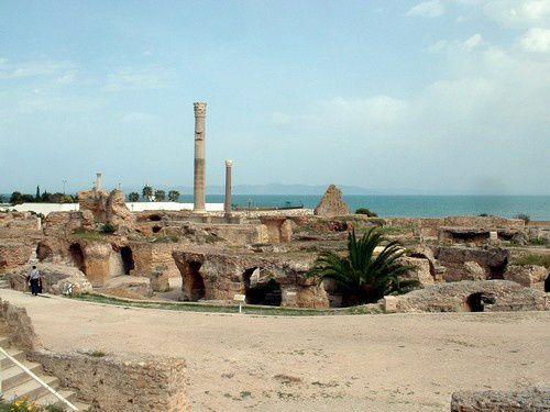 J'ai vu les ruines romaines de Tunisie