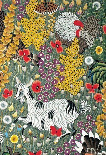 """détail de la tapisserie """"Plein champ """" 1970"""