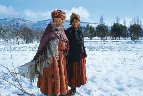 Il a neigé sur Bekkaria, en Algérie.