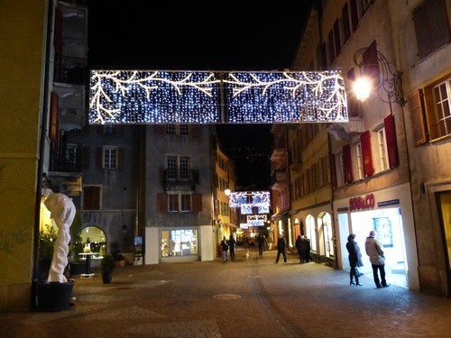Le marché de Noël à Sion.