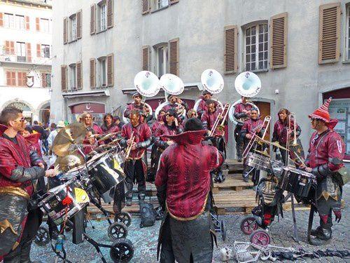 Ambiance assurée lors du carnaval de Sion