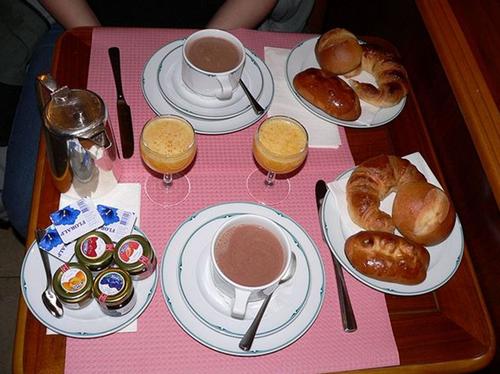 Les petits déjeuners dans le monde.