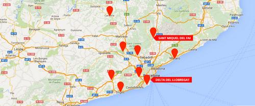 Le monastère Sant Miquel Del Fai en Catalogne.