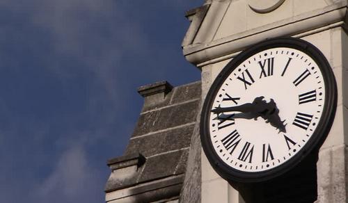 L'horloge de l'église.