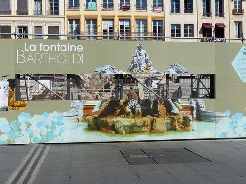 Statues et fontaines de Lyon.