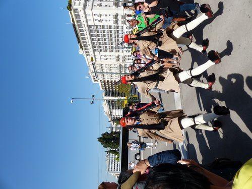 La parade des evzones.