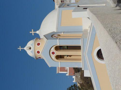 Escale sur l'île de Santorin