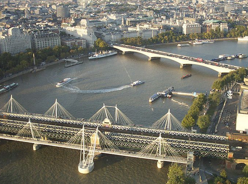A bord du London Eye !
